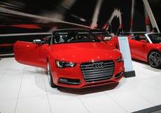 Cabrio alemão novo na feira automóvel Imagem de Stock Royalty Free