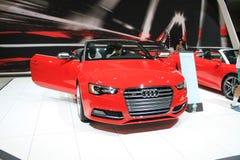 Cabrio alemão novo na feira automóvel Fotos de Stock