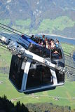 CabriO cable car Stanserhorn Royalty Free Stock Images