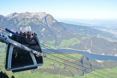 CabriO cable car Stanserhorn Stock Photos