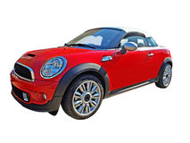 Cabrio car. A mini cooper cabriolet car isolated on white Stock Images