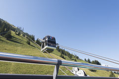 Cabrio double deck cable car, Stanserhorn Stock Photography