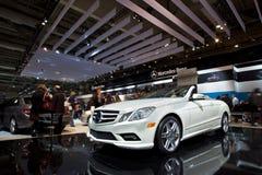 Cabriolé 2011 de Mercedes-Benz E550 en los 2010 CIAA Imagen de archivo libre de regalías