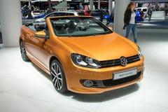 Cabriolé de Volkswagen Golf - estreno mundial Fotografía de archivo