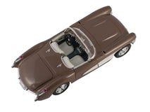 Cabriolé marrón retro del coche Fotos de archivo