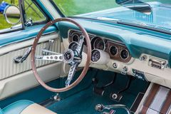 Cabriolet 1965 för Ford Mustang 289 Arkivfoto