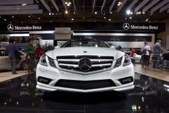 Cabriolet 2011 de Mercedes-Benz E550 em Autoshow 2010 Foto de Stock Royalty Free