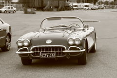 Cabriolet in black and white Royalty Free Stock Images