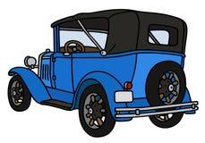 Cabriolet blu d'annata Fotografia Stock Libera da Diritti