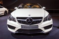 Cabriolet classe de la e de Mercedes-Benz Photographie stock libre de droits