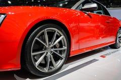 Cabriolet d'Audi RS5, 2014 CDMS Photographie stock libre de droits