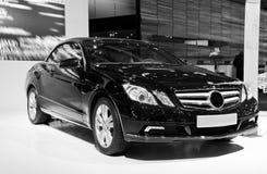 Cabriolet d'e-classe de benz de Mercedes, sideview images libres de droits