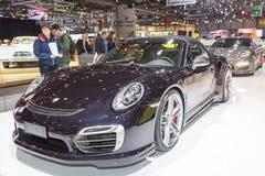 Cabriolet 2015 de TechArt Porsche 911 Turbo S Photos libres de droits