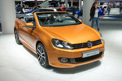 Cabriolet de Volkswagen Golf - estreia mundial Fotografia de Stock