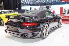 Cabriolet 2015 di TechArt Porsche 911 Turbo S Immagine Stock Libera da Diritti