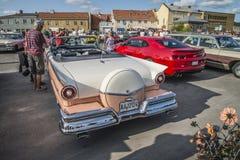 1957 cabriolet för vadställefairlane 500 Arkivbilder
