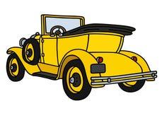 Cabriolet giallo d'annata Fotografia Stock Libera da Diritti