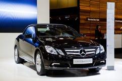Cabriolet neuf d'E-classe de Mercedes sur l'exposition Images stock