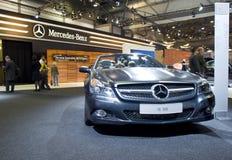 Cabriolet neuf de Mercedes SL500 sur l'exposition Photos stock