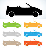 Cabriolet silhouette Stock Images