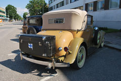Cabriolet. Uusikaupunki, Finland - August, 9, 2014: Well restored Nash club car stock image