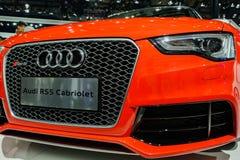 Cabriolet van Audi RS5 op 2014 CDMS Stock Afbeelding