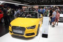 Cabriolet van Audi S3 bij Auto Mobiele Internationale Markt Stock Afbeelding