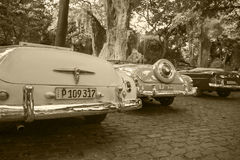 Cabriolets in Cuba stock image