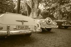 Cabriolets in Kuba stockbild