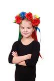 Cabrito adorable ucraniano con sonrisa bonita Imágenes de archivo libres de regalías