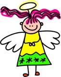 Cabrito angelical stock de ilustración