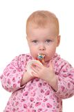 Cabrito con la trompeta Fotografía de archivo libre de regalías