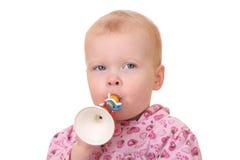 Cabrito con la trompeta Foto de archivo libre de regalías