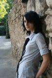 Cabrito de Emo cerca de la pared Imagen de archivo