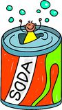 Cabrito de la soda stock de ilustración