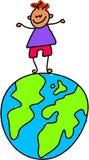 Cabrito del globo stock de ilustración