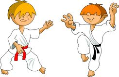 Cabrito del karate Fotografía de archivo