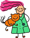 Cabrito del veterinario stock de ilustración
