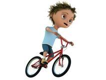 Cabrito en la bicicleta Fotografía de archivo