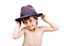 Cabrito lindo con el sombrero imágenes de archivo libres de regalías