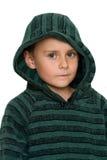 Cabrito lindo en el suéter, aislado en blanco Imagenes de archivo