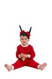 Cabrito lindo en el traje de santa Fotografía de archivo libre de regalías
