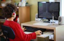 Cabrito usando el ordenador Fotografía de archivo libre de regalías