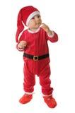 Cabrito vestido como Papá Noel. Foto de archivo libre de regalías