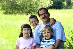 Cabritos con el papá Fotografía de archivo libre de regalías