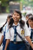 Cabritos de la escuela del Balinese Imagenes de archivo