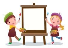 Cabritos de la historieta con la lona de pintura libre illustration