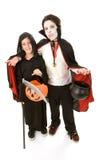 Cabritos de Víspera de Todos los Santos - muchachos en traje Fotografía de archivo libre de regalías