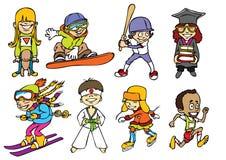 Cabritos del deporte de la diversión Imágenes de archivo libres de regalías