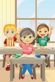 Cabritos en sala de clase